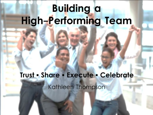 building a high performance team Six characteristics are present in teams that are able to achieve exceptional results.